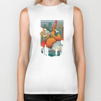 sun Biker Tanks featuring Sun Rise by The Child