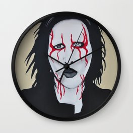 "Manson- ""Coma Black"" Wall Clock"