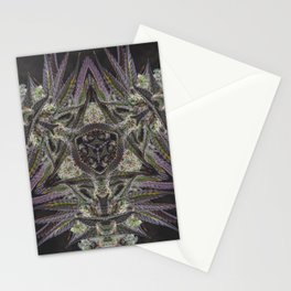 Purple Black Lime #2 Stationery Cards
