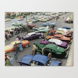 1954 Parkin Lot Custom Car Show Canvas Print