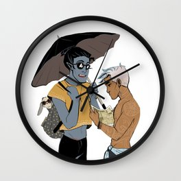 LN summer: Elia and Seb Wall Clock