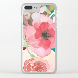 Flowers , floral , shabby chic décor,  flower decor , Clear iPhone Case