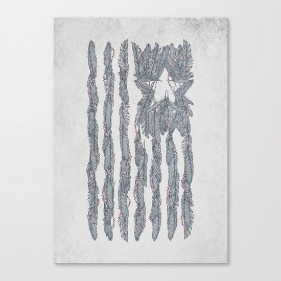 America Feather Flag Canvas Print