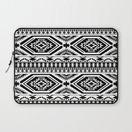 Aztec Geometric Print - Black Laptop Sleeve