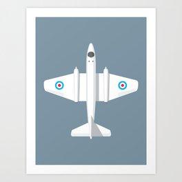 Canberra Jet - Slate Art Print