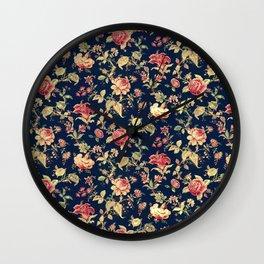 Shabby Floral Print Wall Clock
