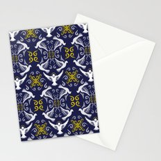 Doves Patterns Stationery Cards