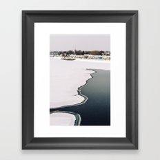 Frozen Ottawa River Framed Art Print