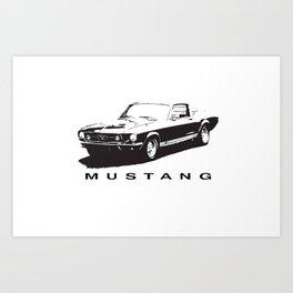 Mustang Design Art Print