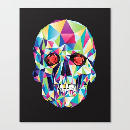 Geometric Candy Skull Canvas Print