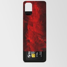 Red And Black Luxury Abstract Gothic Glam Chic by Corbin Henry Android Card Case