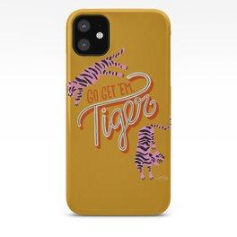 Go Get 'Em Tiger – Yellow Palette iPhone Case