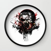 metal gear solid Wall Clocks featuring Metal Gear Solid V: The Phantom Pain by ururuty