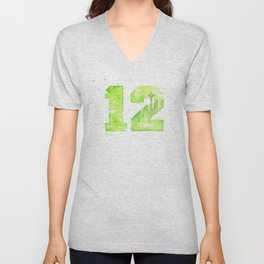 12th Man Seattle Art Unisex V-Neck