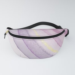 Pretty Purple and Pink Agate Illustration Fanny Pack