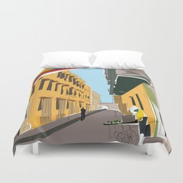Cartagena de Indias, Colombia Travel Poster Duvet Cover
