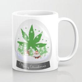 Merry Christmas Marijuana Snow Globe Coffee Mug