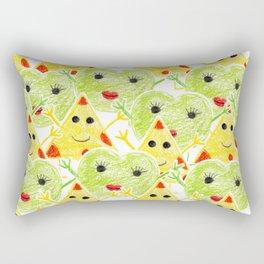Cheese Jeese Kids Crayon pattern Rectangular Pillow