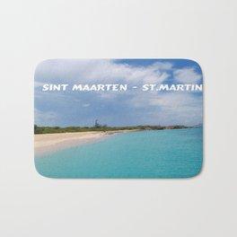 Tropical sandy beach of Sint Maarten - St. Martin Bath Mat