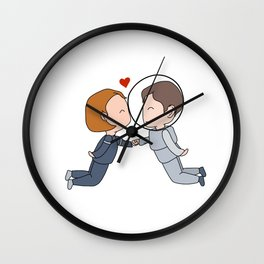 Space Nerds in Love Wall Clock