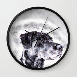 Gorgeous Black Dog Wall Clock