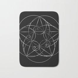 Fibonacci Spiral- The sacred geometry Bath Mat