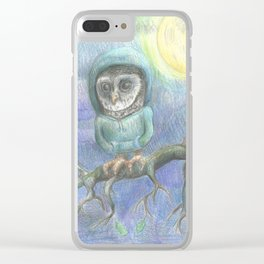 Chilly Owl Clear iPhone Case