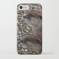 otters iPhone & iPod Cases featuring Pair of Otters by Eleven Collective