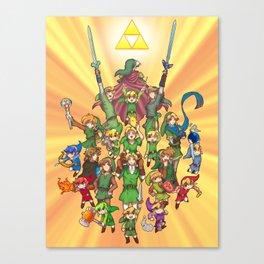 The Legend of Zelda 30th anniversary Canvas Print
