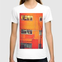 industrial T-shirts featuring Orange Industrial by Thick Paint Works