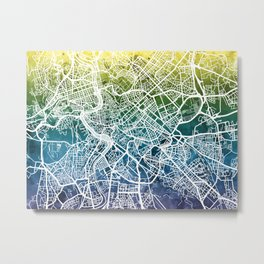 Rome Italy City Street Map Metal Print