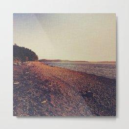 Lopez Island beach  Metal Print