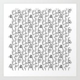 OWLvMOUSE Art Print