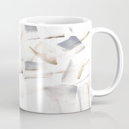 180630 Grey Brown Black Neutral Abstract Watercolour 7 | Watercolor Brush Strokes Coffee Mug