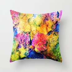 Fall Leave Abstract Throw Pillow
