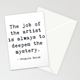 Deepen the mystery Stationery Cards