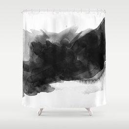 black ink splash Shower Curtain
