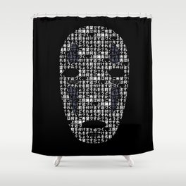 No-Face Mask Typograph Shower Curtain