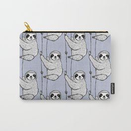 periwinkle does it - sloth Carry-All Pouch