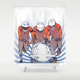 Cool Runnings - Bobsleigh 4 men team Shower Curtain