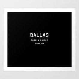 Dallas - TX, USA Art Print