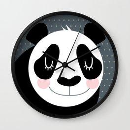 Panda - B/W Wall Clock