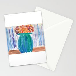 Potted Flowers Watercolor Stationery Cards
