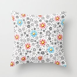 Millefiori Monotone Throw Pillow