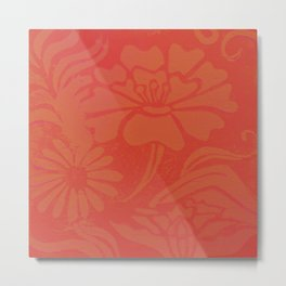 Stoneware tile print Metal Print