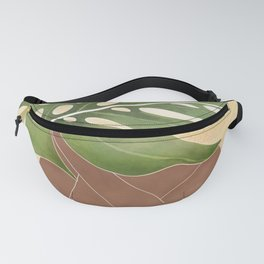 Woman with Monstera Leaf Fanny Pack