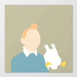 5 minutes Tintin and Snowy Canvas Print
