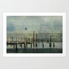 Pelicans Landing Art Print