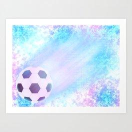 Flying football Art Print