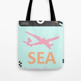 SEA Seattle airport tag Tote Bag